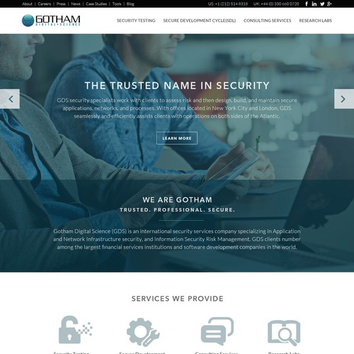 Gotham Digital Science Site Design