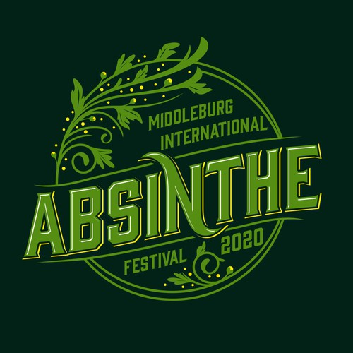 International Absinthe Festival Logo Design