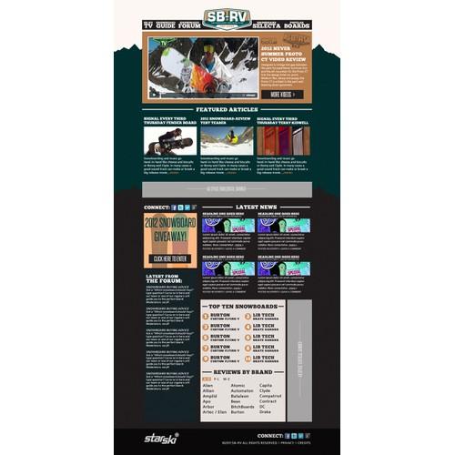 Website design for SB-RV...Snowboard-Review.com - GUARANTEED!