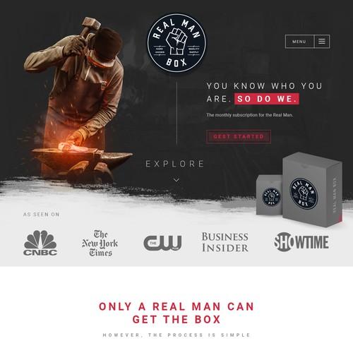 Bold, modern design for men's subscription box