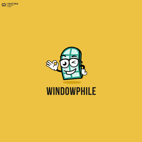 Mascot logo design for windowphile
