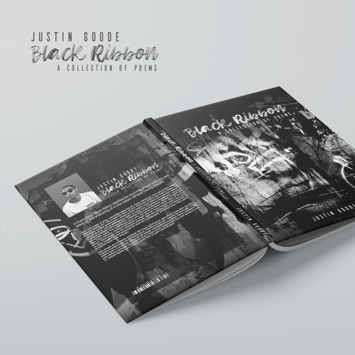 Book cover design for poetry writer