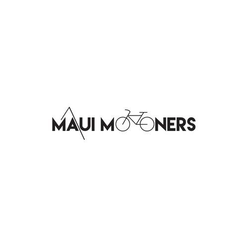 Logo concept for adventure tour company Maui Mooners