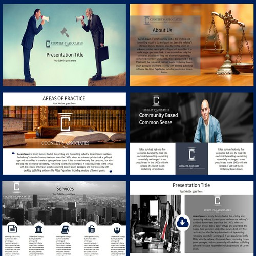 Law Form powerpoint template