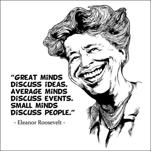 caricature Eleanor Roosevelt
