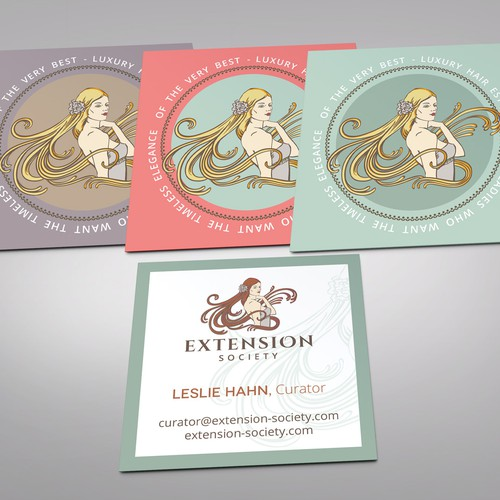 Business card concept for Extension Society