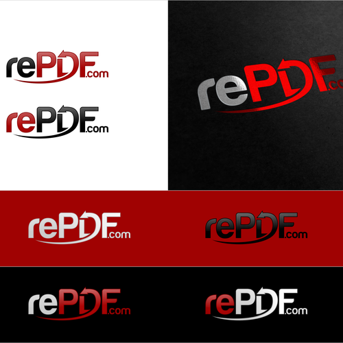 Create a modern logo for a secure PDF web service!