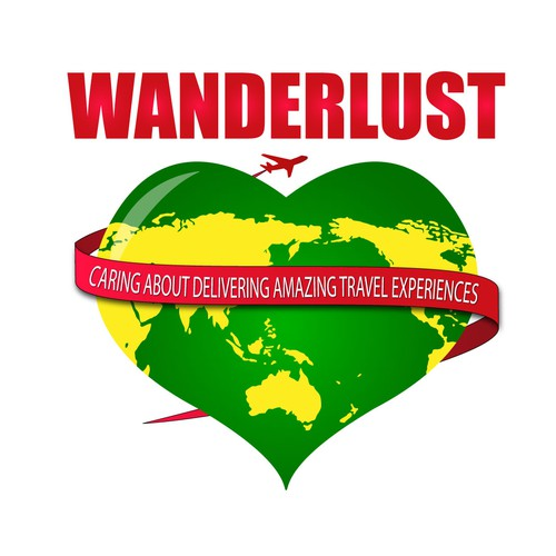 Create a logo that represents a desire to travel the world