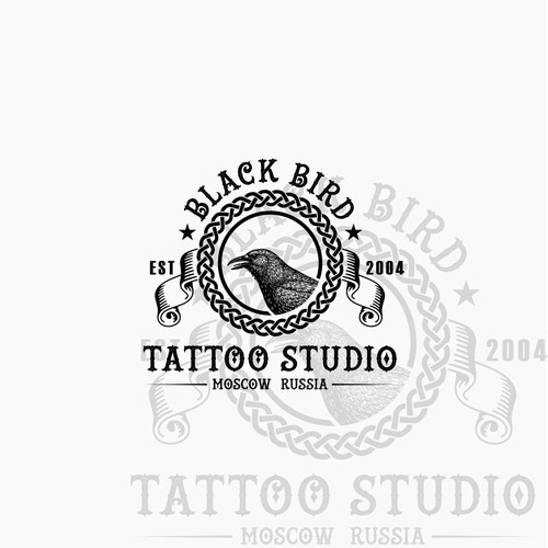 Vintage Shirt Design For Moscow Tattoo Shop