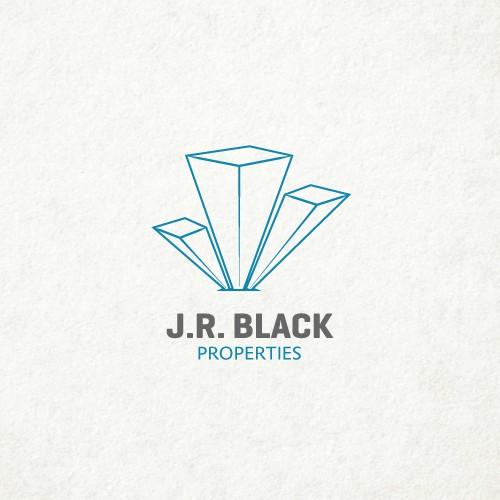 Real estate logo for J.R. Black Properties