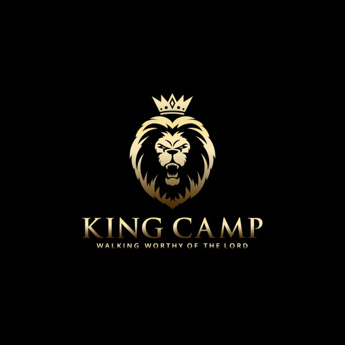 ANGRY KING LION LOGO