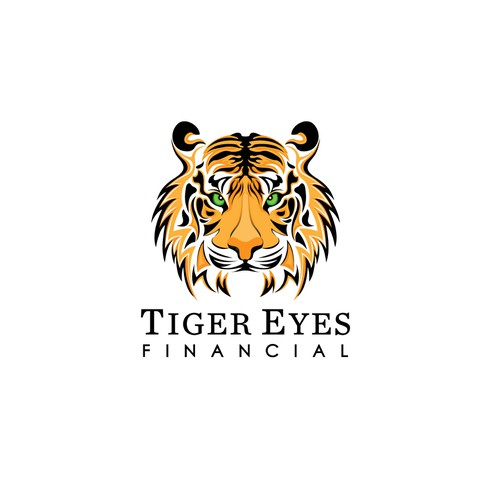 Eye of the Tiger design a logo that makes you think you are looking at a live Tiger!