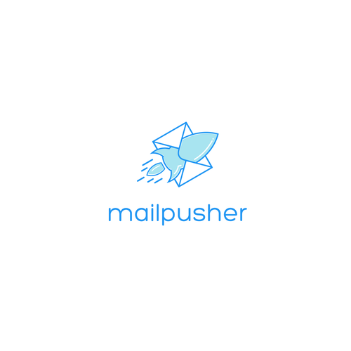 Modern and fun logo for MailPusher