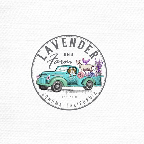 Lavander Farm  logo design