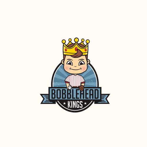 Bobblehead Kings concept logo design