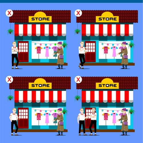 6 illustrationen