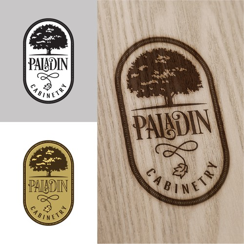 Upscale logo for custom cabinet maker