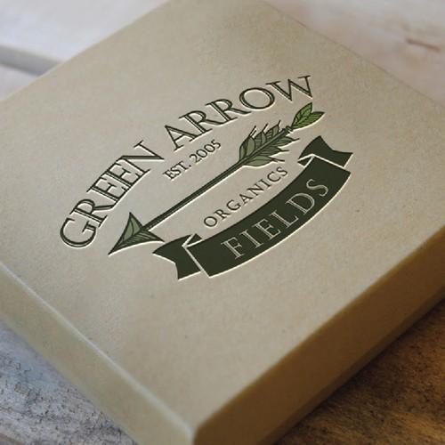 Create a modern, yet classic logo design for Green Arrow Fields