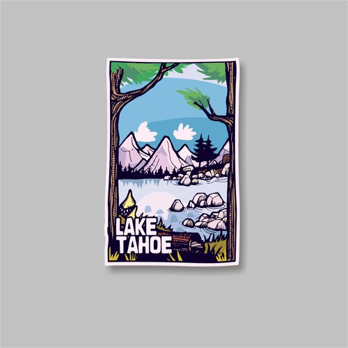 Lake Tahoe sticker
