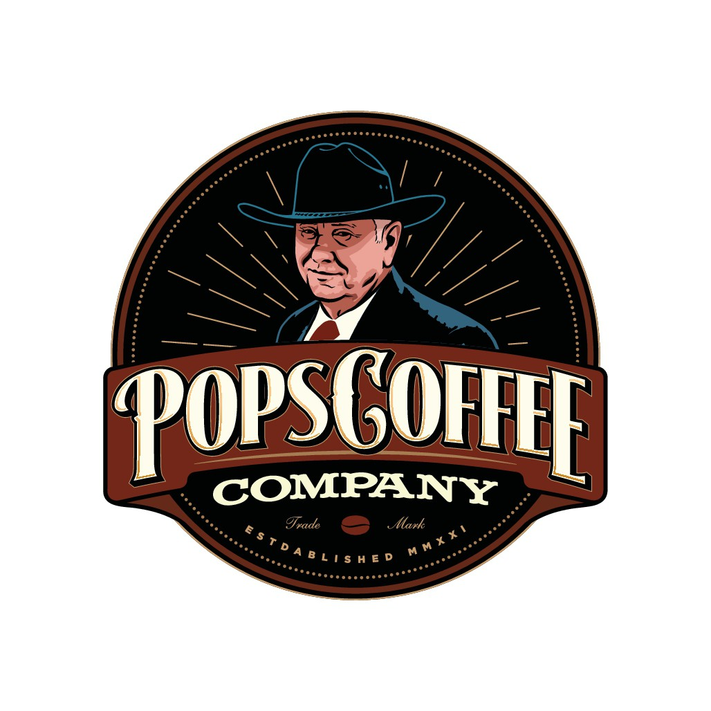 Vintage illustration for online Coffee Company in father's memory