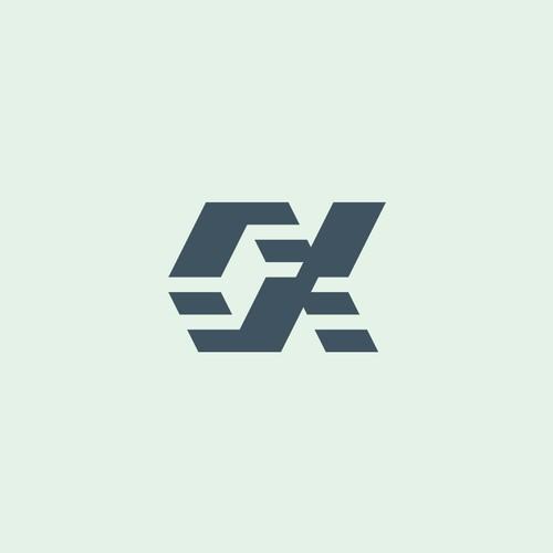 Abstract Alpha symbol.