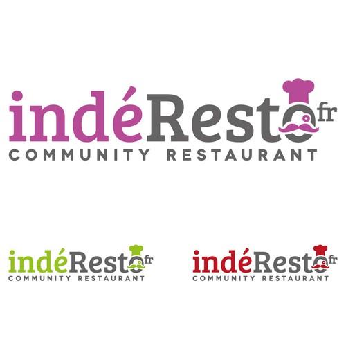 Bold logo concept for a community restaurant website