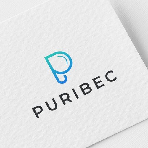 Puribec  P water logo