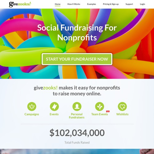 Nonprofit fundraising website