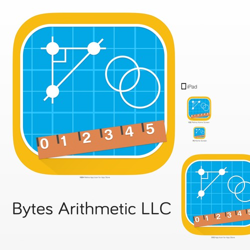 New icon or button design wanted for Bytes Arithmetic LLC