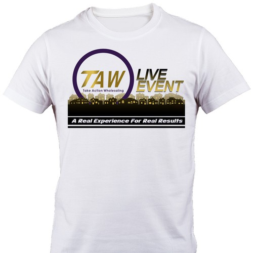 TAW Real Estate Event T-shirt Design