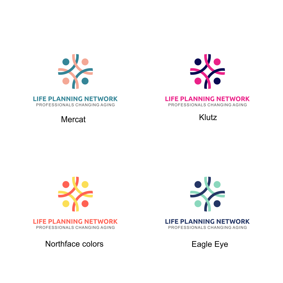 Design a vibrant, forward-looking logo for an organization of engaged professional life planners