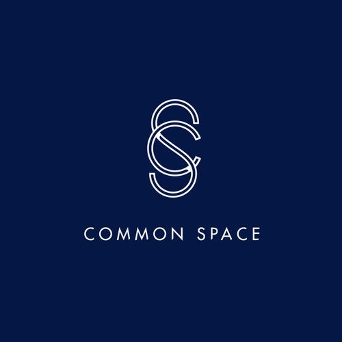 Intertwining CS monogram for co-working space