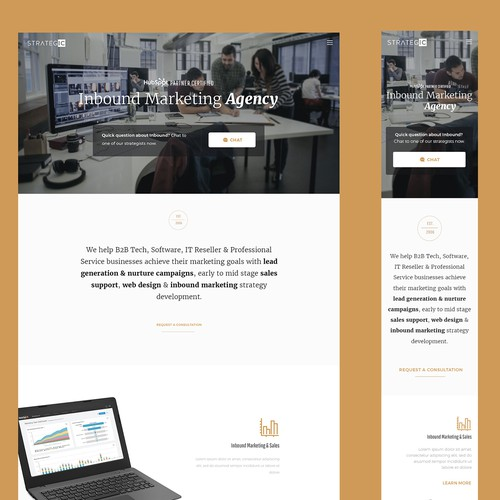 Modern Boutique Feel Design for Advertising Agency