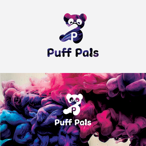Abstract logo design for PuffPals