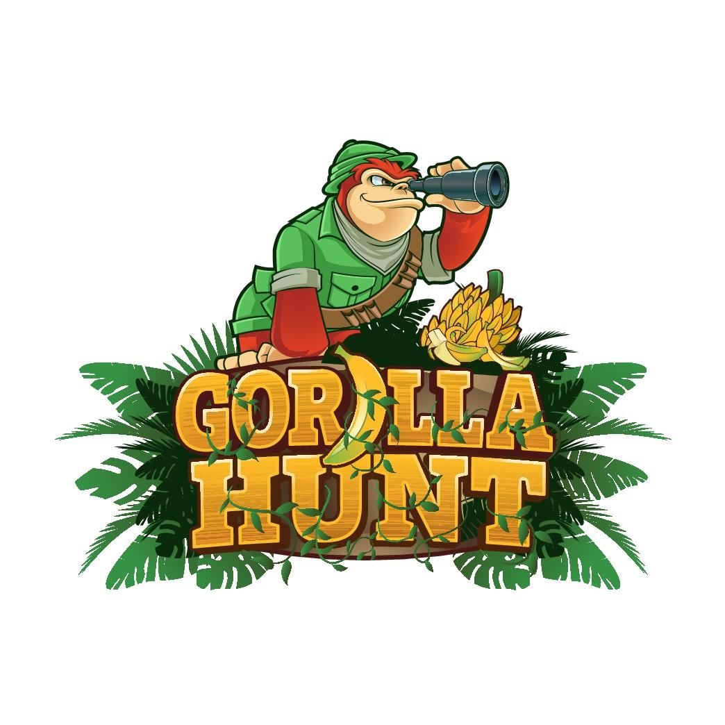 √ Gorilla Hunt  Attention Grabbing Eye Catching Colorful Logo !!