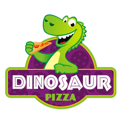 Dinosaur Pizza Logo
