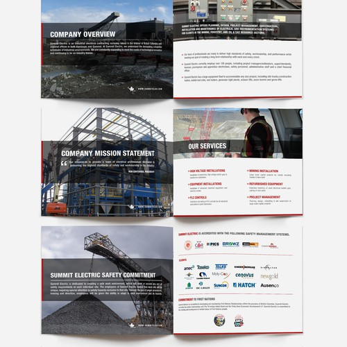 REDESIGN SUMMIT ELECTRIC'S COMPANY OVERVIEW BROCHURE