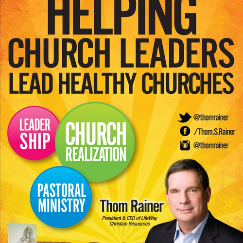 Full page ad design for a church