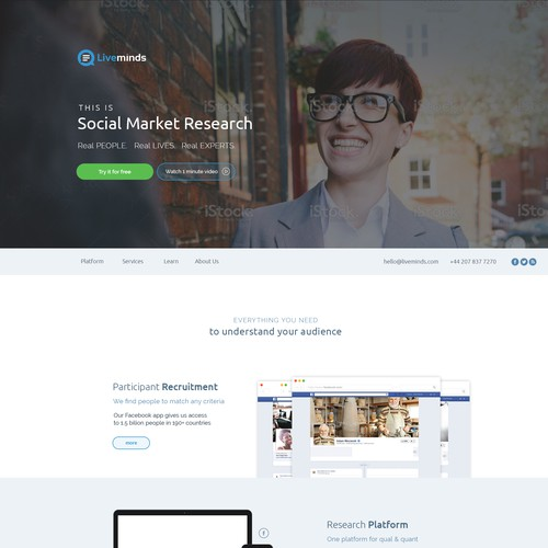 LiveMinds webdesign contest entry