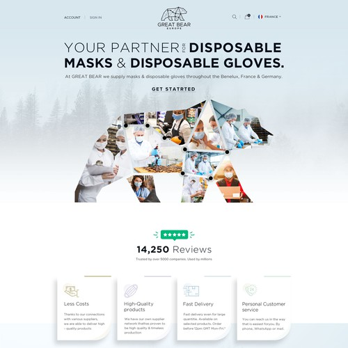 Mask Website Design