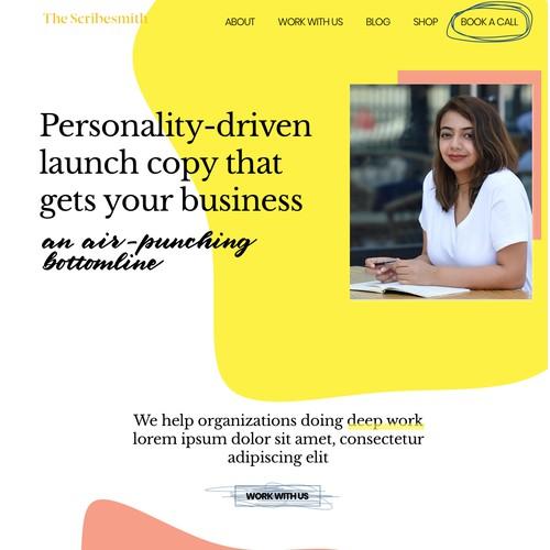 Website design for copywriting agency