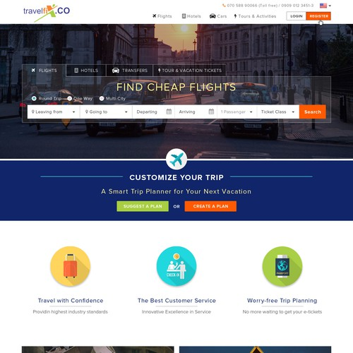 Travelfix.con Web Design