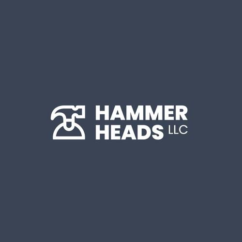 Clean Modern Logo for Hammer Heads