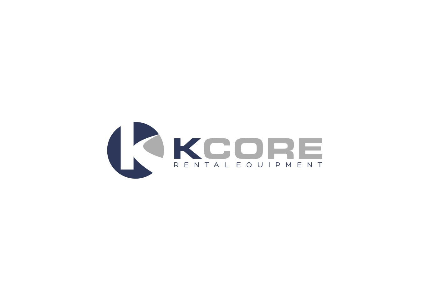 Capture the big machine feel in a classy logo for a new rental company, KCORE
