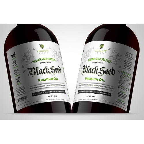 label for blackseed oil