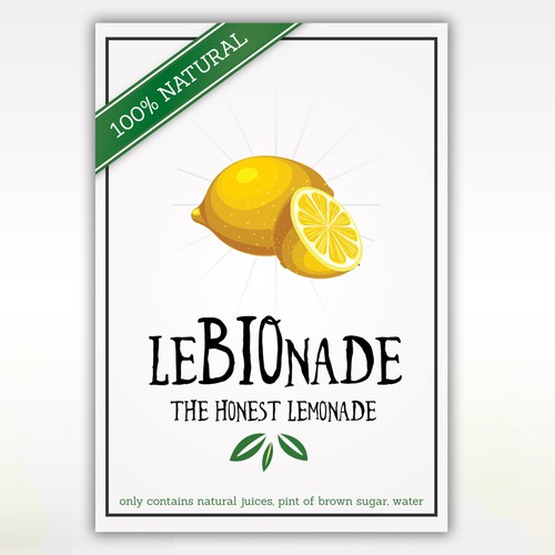 The Honest Lemonade Label