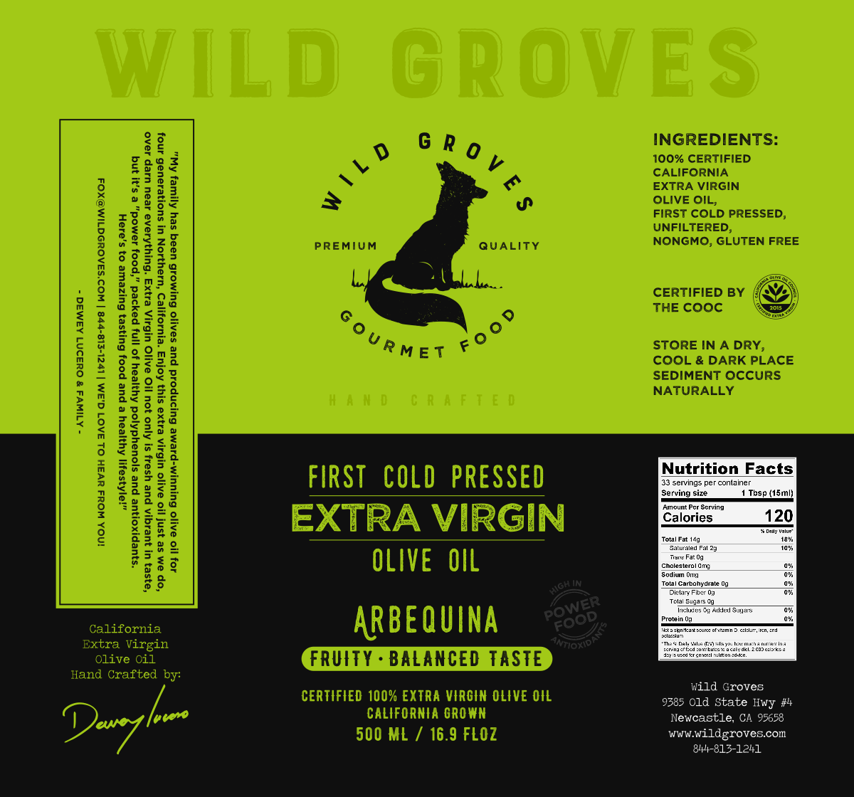 Wild Groves Labels