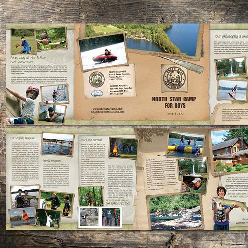 brochure design for North Star Camp for Boys