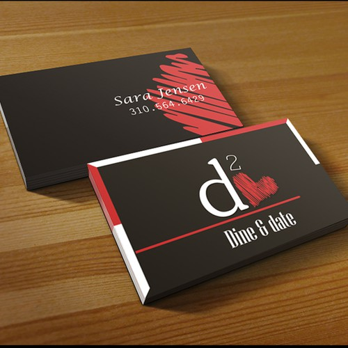 Help dine & date with a new business card