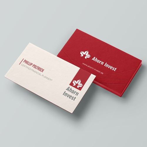 Business card for investment company